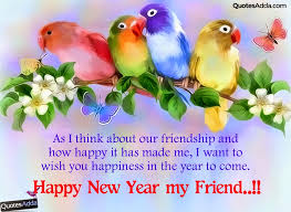 happy new year wishes for friends new year