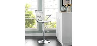 White Leather Bar Stool Fuse Modern White Bar Stools With Arms
