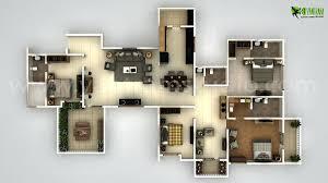 3 bedroom with office house plans home pleasantwith bedroomed 3d