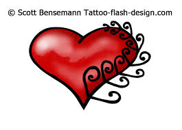 new zealand silver fern heart tattoo designs