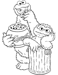 sesame street coloring pages cookie monster and oscar coloringstar