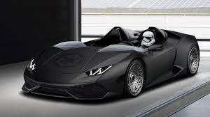 Lamborghini Huracan All Black - yes this is a roofless lamborghini huracan top gear