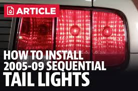 99 04 mustang sequential tail light kit how to install mustang sequential tail light kit 05 09