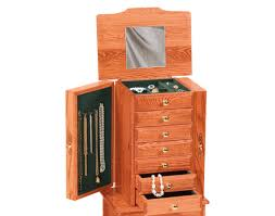Armoire Cherry Wood Cherry Jewelry Armoire