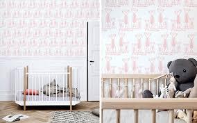papier peint chambre bebe déco chambre bébé stickers animaux savane