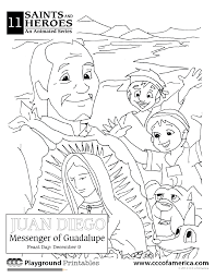 happy feast day of our lady of guadalupe coloring page entertain