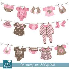 laundry line design girl laundry line digital clipart scrapbooking card
