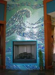 Mosaic Tile Fireplace Surround by 341 Best Mosaic Fireplace Images On Pinterest Mosaic Fireplace