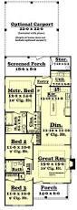Carport Designs Plans Narrow Craftsman Home Plan 3 Bedrooms 2 Baths Plan 142 1041