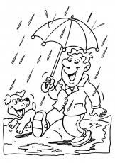 Rainy Day Coloring Sheet Coloring Pages For Kids And For Adults Rainy Day Coloring Pages