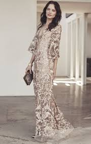 deep v metallic floral embroidered gown
