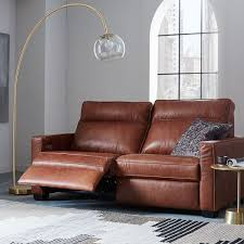 wonderful stylish brown leather recliner sofa reclining with