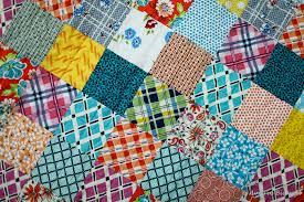 blue is bleu ds patchwork baby quilt