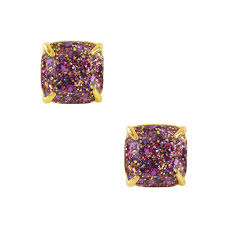purple stud earrings jewelry purple prince glitter stud 12k earrings tradesy