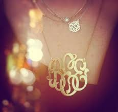monogram necklaces gold gold monogram necklaces monogram jewelry be monogrammed