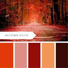 printablewisdom autumn path color palette free printable