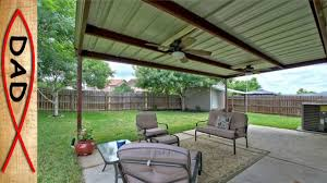 Build An Awning Over Patio by Patio Cover 20x12 Metal No Wood Youtube
