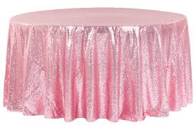 pink round table covers glitz sequins 120 round tablecloth pink cv linens