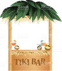 retro summer tiki bar on white background stock vector art