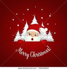 christmas greeting card christmas santa claus stock vector