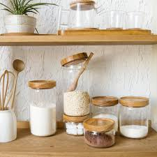 wooden canisters kitchen 2018 wholesale japan zakka style glass spice jar kitchen canisters