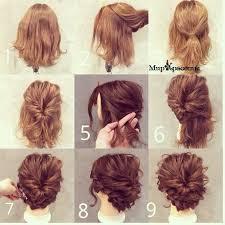 Hochsteckfrisuren Mittellange Haar Einfach by Hochsteckfrisuren Einfach Kurze Haare