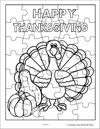thanksgiving puzzle coloring pages coloring