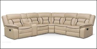 value city sectional sofas remi 6 piece reclining sectional with 3 reclining seats in cream by