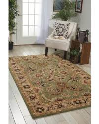 spectacular deal on nourison hand tufted caspian green floral wool