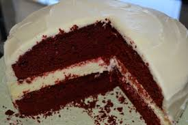 red velvet cheesecake cake a slice of bri