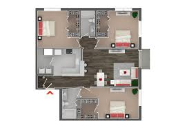 Wholesale Western Home Decor 2d Furniture Floorplan Top Down View Style 3d Model Cgtrader Com