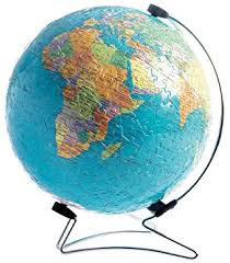 world map globe image ravensburger 3d the earth puzzleball 540