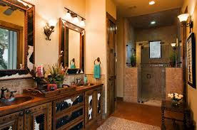 Western Bathroom Ideas Colors Rustic Ranch House Designed For Family Gatherings In Texas