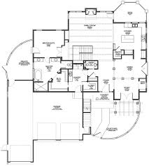 Floor Plan Front View by Santa Fe Style House Plan U2014 Evstudio Architect Engineer Denver