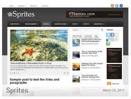 sprites black download template wordpress gratis 3 kolom
