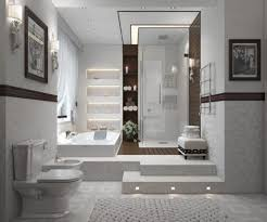 Gray And Brown Bathroom by Bathroom Brown Bathroom Vanities Gray Marbled Floor White