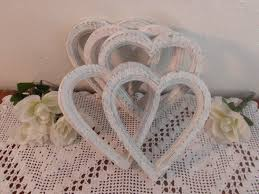 romantic home decor white wedding frame shabby chic distressed heart picture photo