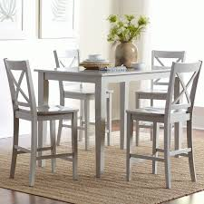 Sofa Table With Stools Simplicity Dove Grey 5 Piece Counter Height Set Counter Height