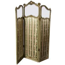 screen room divider french three panel folding screen room divider at 1stdibs