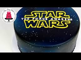 starwars cakes wars logo galaxy airbrushed cake how to with the icing