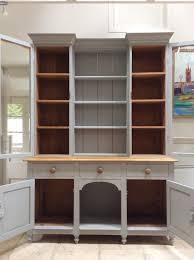 victorian painted pine grey glazed welsh dresser server kitchen