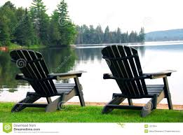 Chairs On A Beach Lake Beach Chairs Stock Images Image 1327904
