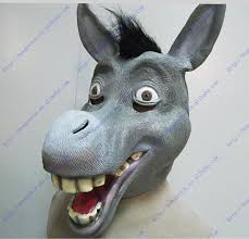 shrek donkey latex mask props headpiece accessories head