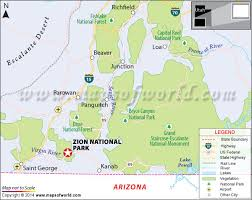 map of zion national park zion national park utah usa map best to visit facts