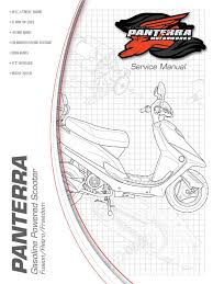 panterra 50cc street scooter service manual carburetor throttle