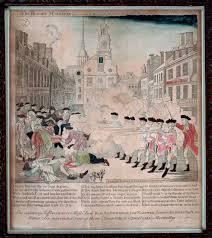 Paul Revere House Floor Plan by The Bloody Massacre Boston Athenæum
