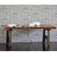 waterfall coffee table wood waterfall edge coffee table wayfair