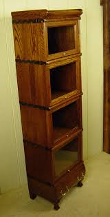 Stacking Bookcase Rare 4 Section Miniature Macey Co Stacking Oak Bookcase