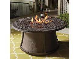 ashley signature design burnella outdoor round fire pit table