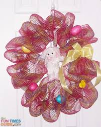how to make a deco mesh wreath to hang on your door fun ideas